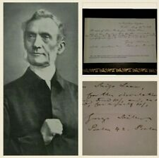 George Muller - 1858 Orphan Home Signed  - Original Record of Answered Prayer!!
