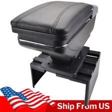 Car Armrest Storage Box PU Leather Rotatable Arm Rest Center Console