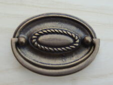 5 New Soild Brass with Rustic Finish Bail Drawer Pulls Furniture/Cabinet Hardwar