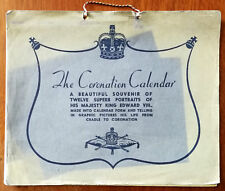 Antique King Edward VIII Coronation Calendar 12 Superb Portraits UK Royalty 1937