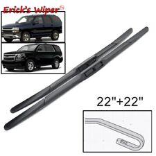 "Front Wiper Blades For Chevrolet Tahoe MK2 MK4 2015-2019 2006 Windshield 22""+22"""