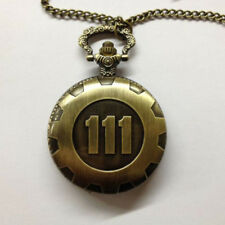 Bronze Fallout 4 Fashion Antique Time Neckage Pocket Watch Chain Pendant