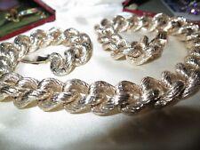 Wonderful vintage goldtone chunky chain link necklace