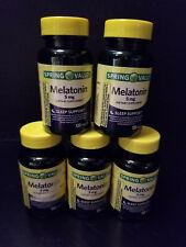 Spring Valley Melatonin Tablets 5mg 120 tablets X5 = 600