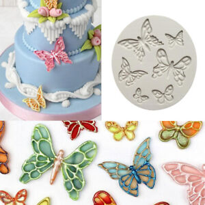 3D Butterfly Silicone Mould Fondant Cake Topper Mold Chocolate Candy Baking DIY