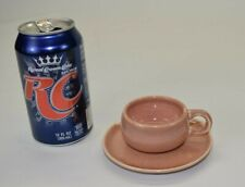 Russel Wright DEMITASSE CUP & SAUCER Coral American Modern Steubenville