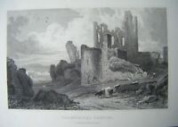 1830 Antique Print CAERPHILLY CASTLE, GLAMORGANSHIRE ~ Gastineau