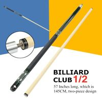 "57"" 2Pcs Billiard Pool Cue Stick Hardwood Snooker pool free case and tip chalk"