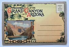 Grand Canyon of Arizona Souvenir Postcard Linen Color Foldout Vintage Unposted
