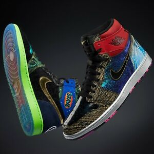 "Air Jordan 1 ""What The"" Doernbecher, Size 10.5, One-of-a-Kind Hoodie and Box"