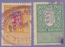 Estonia General Revenues Barefoot #281-282 used 1928 cv $15
