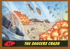 Mars Attacks The Revenge Bronze [25] Base Card #41 The Saucers Crash