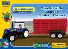 New Holland Tractor & Grain Trailer Block Set