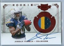 2011 Plates & Patches Jordan Todman On Card Auto 3-Color Jersey Serial # to 499
