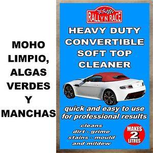 Convertible et cabriolet limpiador - Moho limpio, algas verdes y manchas car