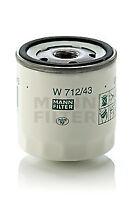 Mann & Hummel Oil Filter W 712/43 - BRAND NEW - GENUINE - 5 YEAR WARRANTY