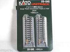 Kato n gauge Unitrack Snap Track Conversion Track 62mm  20-045