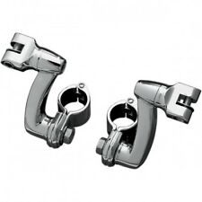 Longhorn offset mounts with 1-1/4 magnum quick clamps chrome - Kuryakyn 7986
