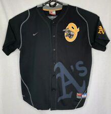 525f3c33924 Nike Oakland Athletics A s Men s Large L Black Jersey Stomper Elephant MLB