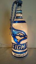 Creighton Blue Jays inspired Bottle Lamp Bottle Light Hand Painted