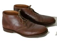 Men's Bison Leather Chukka Boots Lace up Brown Size 13 M Shoes 30 01050 Trask