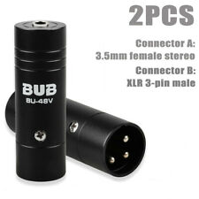3 Pin Canon XLR Male Adapter Connector to 1/8 inch 3.5mm Female Stereo 2Pcs