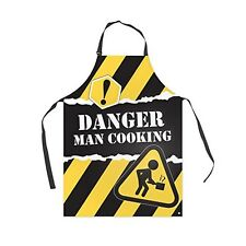 Grembiule da cucina  Danger PVC giallo e nero BA-