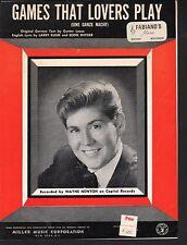 Games That Lovers Play 1966 Wayne Newton Sheet Music