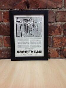 Framed Original Vintage Ad from Power Plant Engineering, April 1, 1929