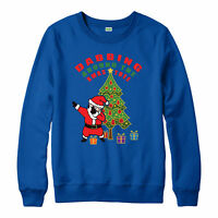Christmas Jumper, Dabbing Santa Xmas Tree Festive Gift Adult & Kids Jumper Top