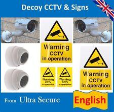 TELECAMERA CCTV FINTA's & inglese segni & etichette (ideale per le case & Business)