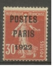 """FRANCE STAMP TIMBRE PREOBLITERE N°32 """"SEMEUSE 30c ROUGE-POSTES 1922"""" NEUF (x) TB"""