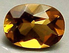 8×10 mm OVAL CUT NATURAL COGNAC QUARTZ #R511