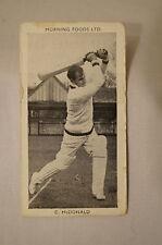 1953 - Vintage - Morning Foods Ltd. - Cricket Card - C.C. Mc Donald - Victoria.