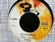 CHARLES AZNAVOUR Les aventuriers / Sylvie 60431 JUKE BOX