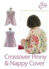 SEWING PATTERN - Bettsy Kingston Crossover Pinny & Nappy Cover - 000 to size 2
