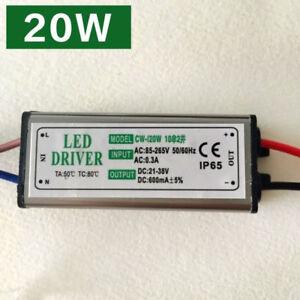 20W Led Driver Transformer Power Supply Waterproof 85~265V TO 21~38V IP65