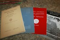 Vintage lot of 4  College Student Bulletins Catalogue Cornell NYU  Polytech