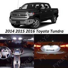 19 White LED Interior Lights Package Kit 2014 2015 2016 Toyota Tundra +Tool TT4W