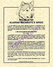 Rules In An Alaskan Malamute's House