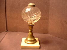 Antique 1870's EAPG Oil Lamp In The Flame Bullseye Pattern W/Marble Base