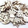 50PCS Wooden Craft Animal Snail Rabbit Buttons Embellishment Scrapbook Craft AU