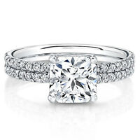 0.77 Ct Real Diamond Ring 14K White Gold Solitaire Engagement Ring Size N H J M
