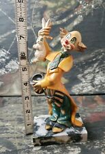 Vintage Magician Clown Figurine 942 Marble Base made in Italy B3H