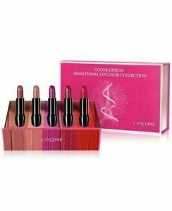 Lancome Color Design Lipstick Holiday Gift Set of 5 Full Size LIPSTICKS
