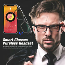 More details for smart glasses bluetooth 5.0 wireless headset hands-free calling for ios android