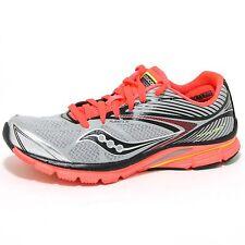 0668O sneakers donna SAUCONY VIZIGLO KINVARA 4 silver/corallo shoes woman