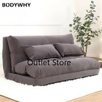 65-120cm Folding Lazy Sofa Bed Velvet Cotton   Bed Bean Bag Couch Tatami Bedroom