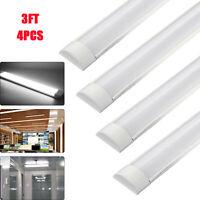 4x 3FT 900mm Slim LED Linear Batten Tube Light Ceiling Strip Bar Light Daylight
