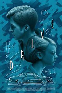 Drive Version 3 Movie Poster by Mondo Boris Pelcer Ryan Gosling Driver